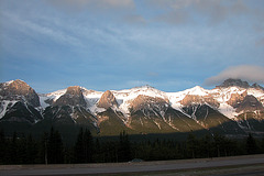 Morning sun over the Canadian Rocky Mountains at Harvey Heights
