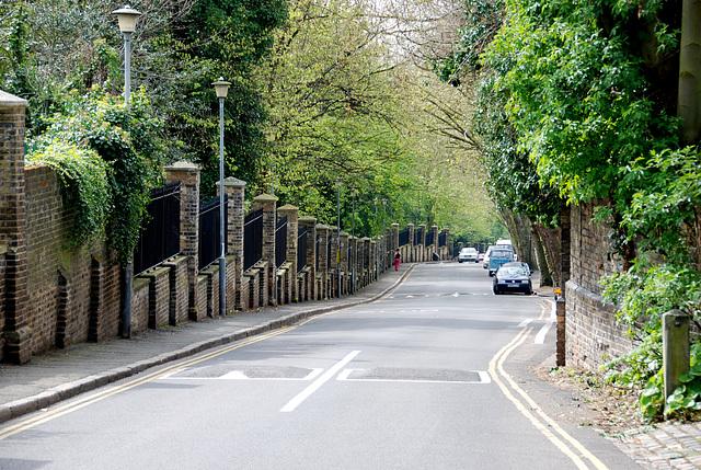 Swains Lane in North London (Highgate)
