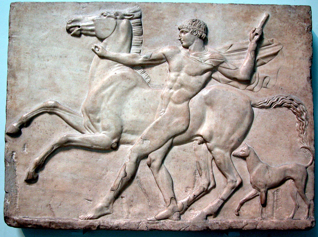 British Museum: Young man and a horse