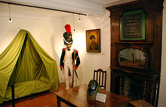 The room where Napoleon slept before the battle of Waterloo