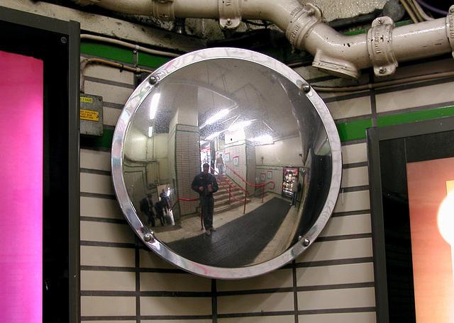 Me in a Underground mirror