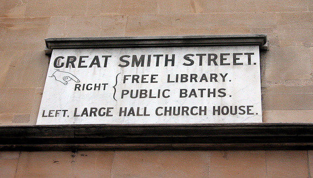 Sign of Great Smith Street