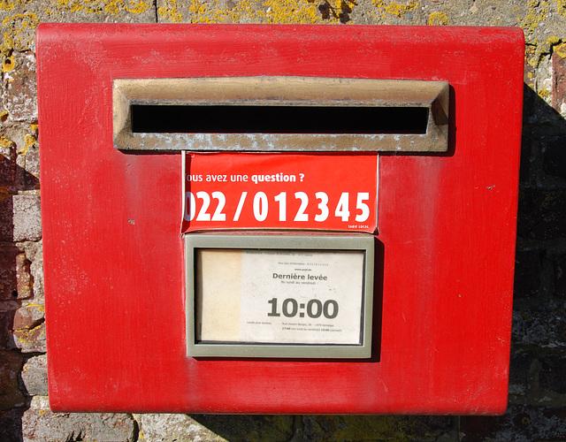 Belgian letter box