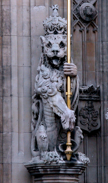 Lion on the Palace of Westminster