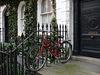 Bike on railings