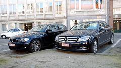 Modern black cars