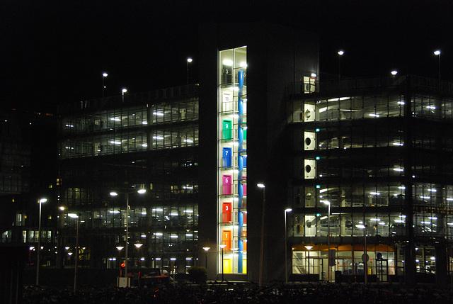 The parking garage of Leiden University Medical Centre