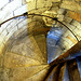 Winding staircase at Clifford's Tower in York