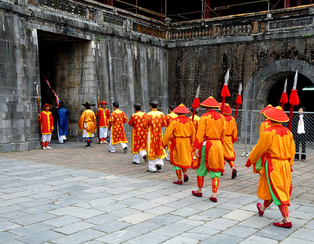 Procession Entering the Ngo Mon (Noontime) Gate to the Imperial Enclosure