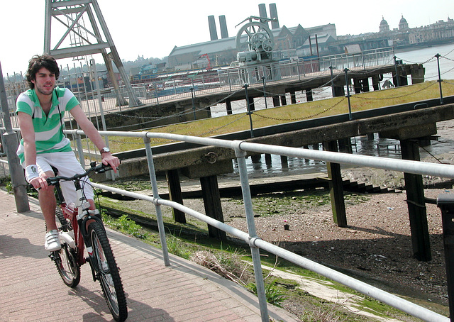 Cycling along the Thames Path is also popular