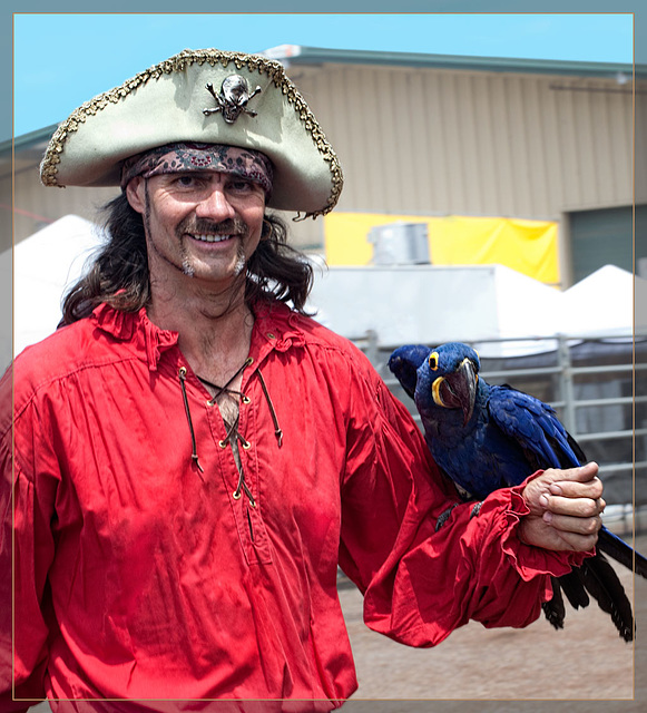 The Pirate's Parrot Show: Chris Biro and a Hyacinth Macaw