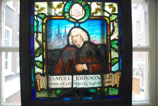 Samuel Johnson stained glass