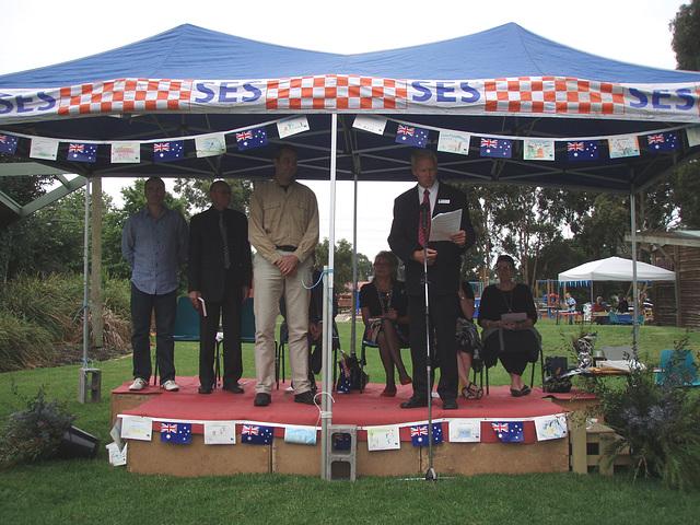 Australia Day ceremony in Leongatha