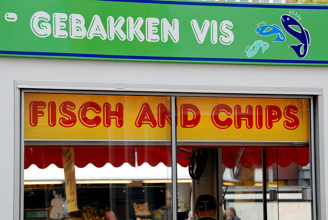 Market in Groningen – Fisch and chips