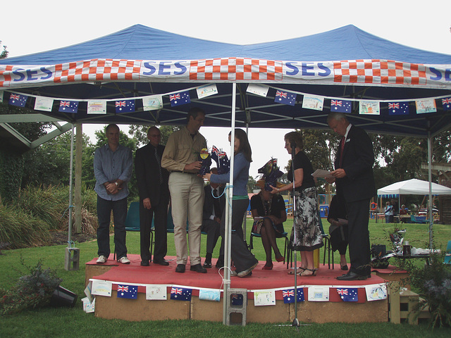 Australia Day ceremony in Leongatha
