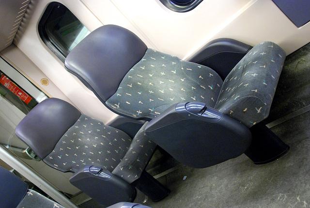 First-class seats in a Dutch train