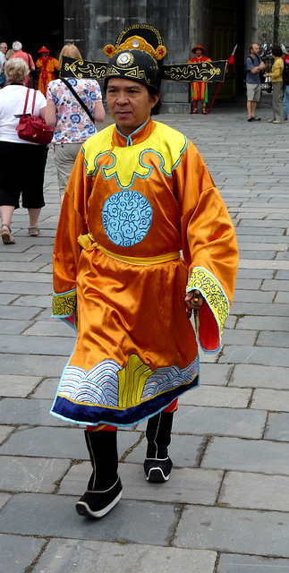 Traditional Costume at the Ngo Mon (Noontime) Gate to the Imperial Enclosure