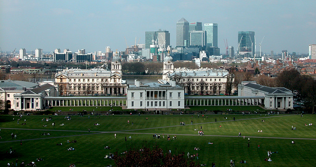 View of London from the Greenwich Observatory