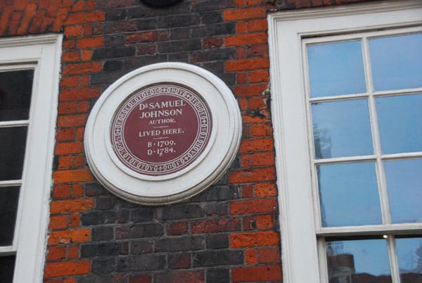 Samuel Johnson plaque