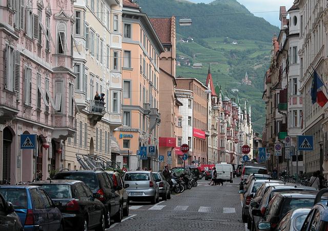 Holiday day 3: Savings Bank Street in Bozen (Bolzano)