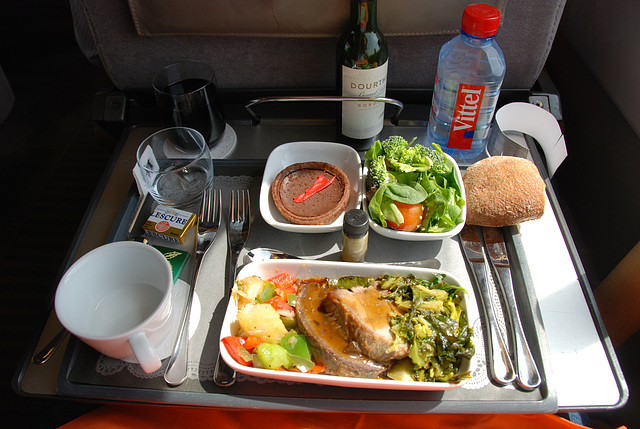 My food on the Eurostar from London to Brussels