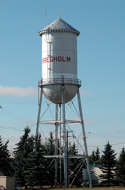 Canada images: water tower in Claresholm
