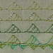 ## 101 and 102, Triagular Buttonhole and Beaded Triangular Buttonhole Stitches