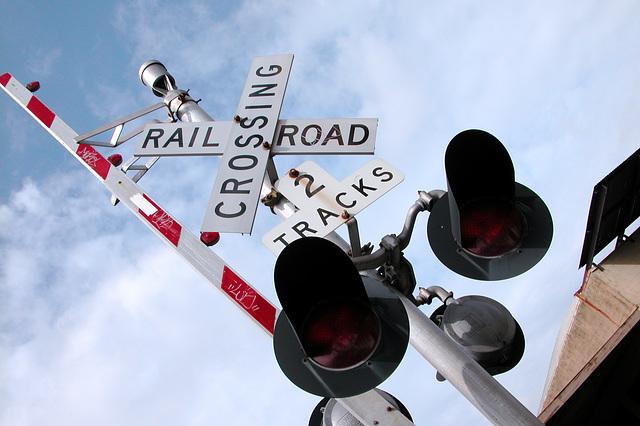 Railroad Crossing in Portland in Oregon