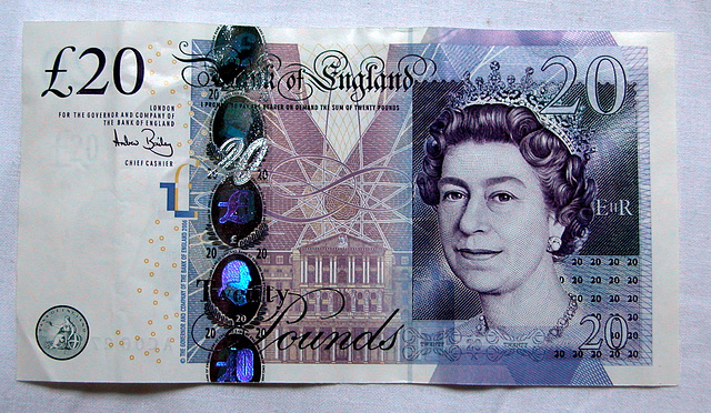New 20 pounds note