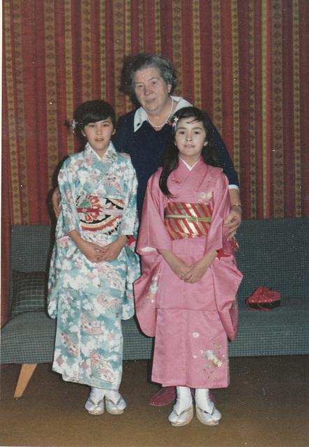 1970 - in kimono with Oma