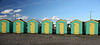 7 green beach huts