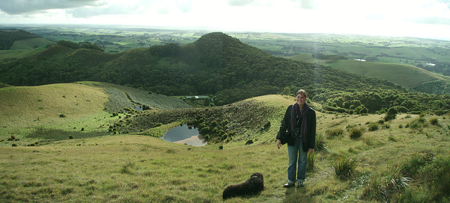 Mt Nicoll - Emilie with Fonzie