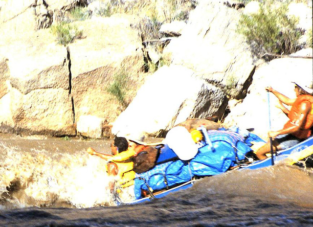 Rafting on the San Juan River