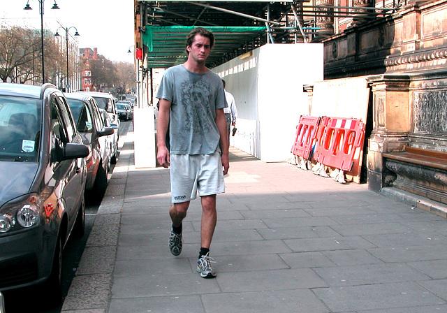 Sweaty London lad