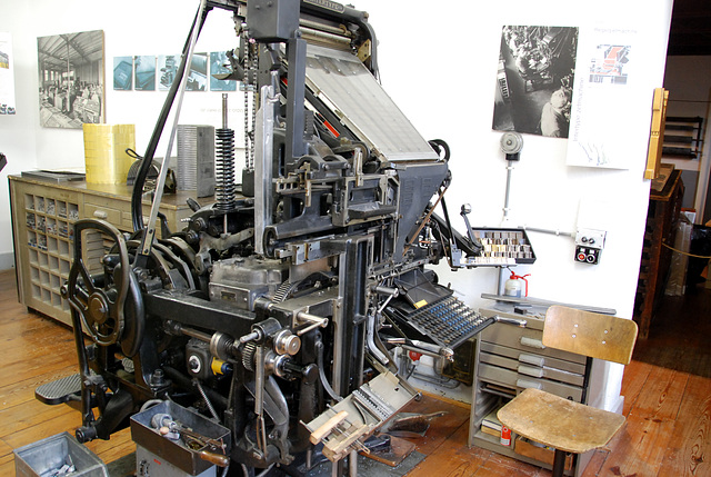 Het Grafisch Museum (the printing museum) in Groningen: Intertype typesetting machine
