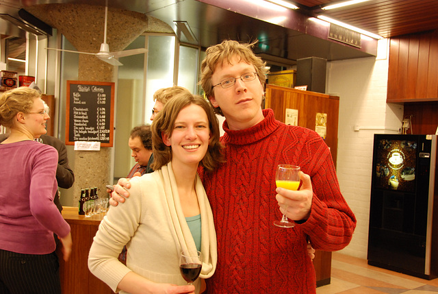 A drinks party at the university