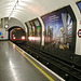 Marble Arch station – Train emerging from the tunnel