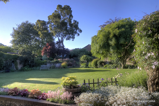 Stickland Farm - the garden on an early morning in May