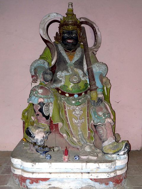 Wooden Effigy of a Guardian at the Thien Mu Pagoda