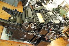 Het Grafisch Museum (the printing museum) in Groningen: Heidelberg rotation printing press