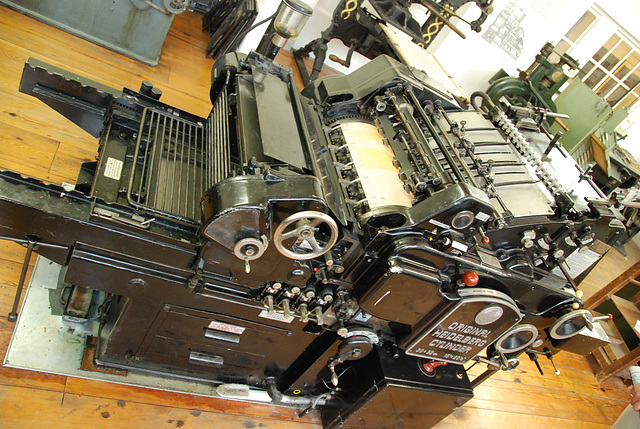 Het Grafisch Museum (the printing museum) in Groningen: Heidelberg rotation printing press