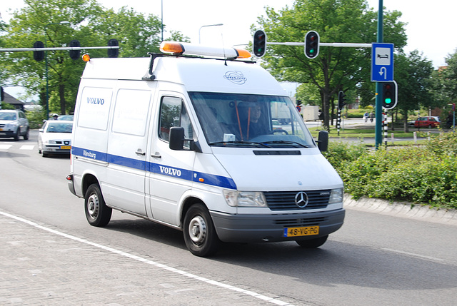Volvo service in a Mercedes-Benz Sprinter