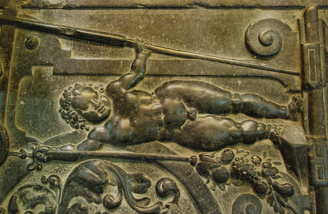 Grave monument in the Grote Kerk (Large Church) in The Hague
