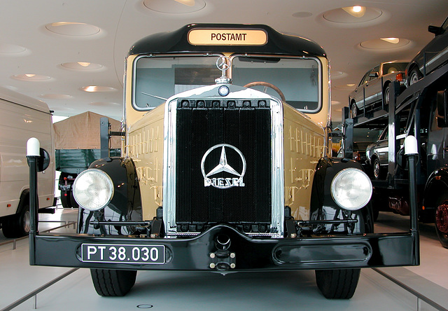 In the Mercedes Museum: Mobile Post Office