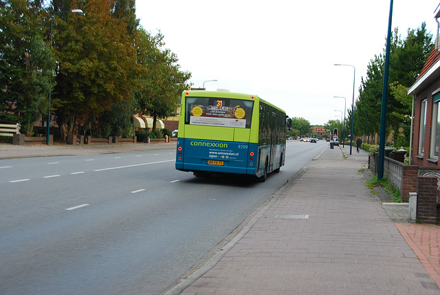 My bike ride home: bus passing me