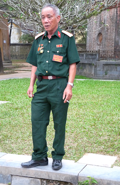 Old Soldier,Phoc Duyen Tower, Thien Mu Pagoda