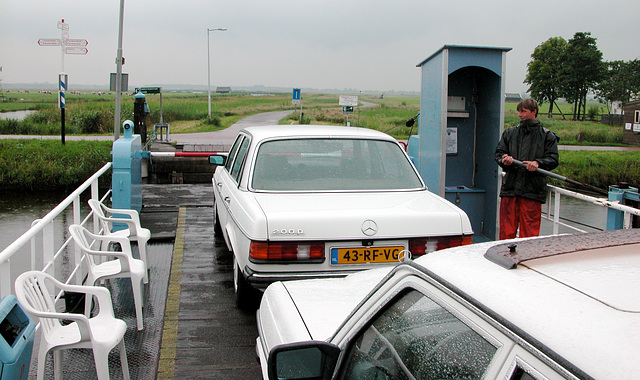 My Benz on the ferry at Ilpendam