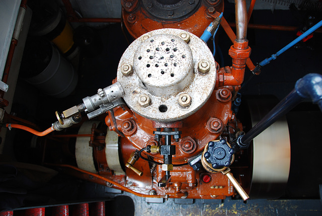 Industrie motorendag 2008: 1929 1IB6 single-cylinder semi-diesel engine of the Feint