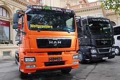 Exhibition of new MAN vehicles