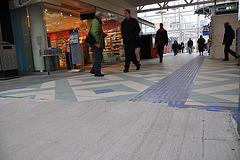 New tiles on the Leiden Central station floor